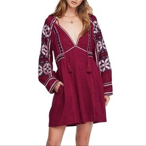 Free People All My Life Embroidered Tunic Dress
